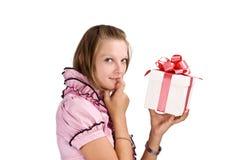 配件箱礼品妇女 免版税图库摄影