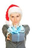 配件箱礼品帽子藏品s圣诞老人妇女 库存图片