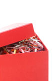 配件箱礼品开放红色 免版税库存图片