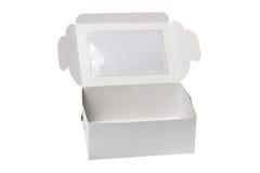 配件箱礼品开放纸张 库存图片