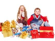 配件箱礼品开玩笑甜点 免版税库存照片