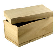 配件箱礼品未完成的木头 库存照片