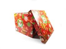 配件箱礼品查出的白色 一件礼物一个假日 惊奇,一个宜人的事件,一个新年,幸福,喜悦 免版税库存图片