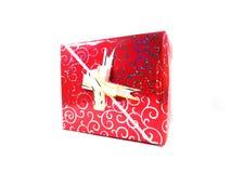 配件箱礼品查出的白色 一件礼物一个假日 惊奇,一个宜人的事件,一个新年,幸福,喜悦 图库摄影