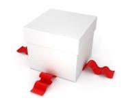 配件箱礼品红色丝带 皇族释放例证