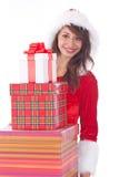 配件箱礼品错过圣诞老人 库存图片