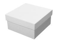 配件箱程序包白色 库存照片