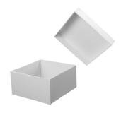 配件箱程序包白色 库存图片