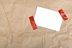 配件箱程序包纸张过帐 库存照片