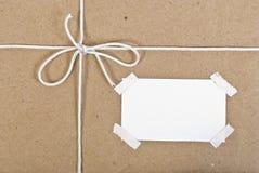 配件箱程序包纸张过帐 免版税库存图片
