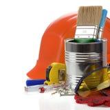 配件箱空白查出的集合的工具 免版税库存照片