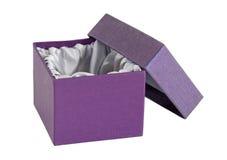 配件箱空的内部查出的盒盖开放缎 库存图片