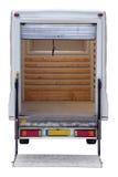 配件箱空的后方有篷货车 库存图片