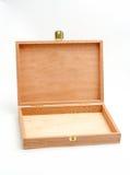 配件箱空的开放木头 免版税库存照片