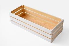 配件箱空的木头 免版税库存照片