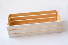 配件箱空的木头 图库摄影