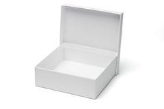 配件箱空的礼品开放白色 库存图片