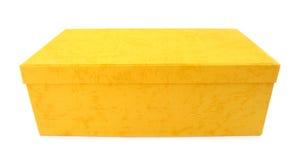 配件箱简单的黄色 库存图片