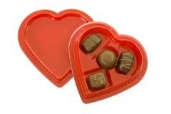配件箱糖果巧克力重点形状 免版税库存照片