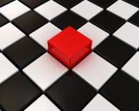 配件箱红色不同一的其他 免版税库存图片