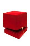配件箱红色天鹅绒 库存图片