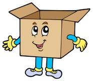 配件箱纸板动画片 免版税图库摄影