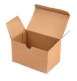 配件箱纸板开张白色 库存图片