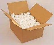 配件箱纸板泡沫装箱 图库摄影