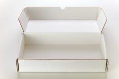 配件箱纸板白色 免版税库存照片