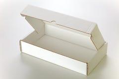 配件箱纸板白色 免版税图库摄影
