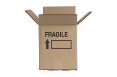 配件箱纸板移动 图库摄影