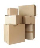 配件箱纸板程序包栈 免版税库存图片