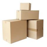 配件箱纸板程序包栈 库存照片