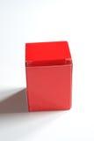 配件箱纸板红色 免版税图库摄影