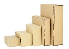 配件箱纸板装箱集合简单 库存照片