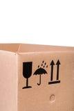 配件箱纸板邮件符号 免版税库存图片
