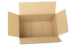 配件箱纸板 库存图片