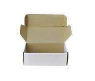 配件箱纸白色 库存图片