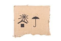 配件箱纸盒标号 免版税库存图片