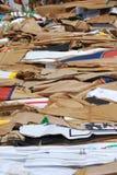 配件箱纸盒浪费 免版税图库摄影