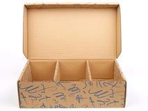 配件箱纸盒 库存照片