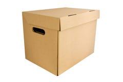 配件箱纸盒 免版税库存图片