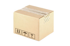 配件箱纸盒 库存图片