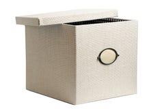配件箱织品孤立白色 库存图片