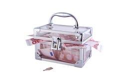 配件箱结算装载了货币 图库摄影