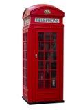 配件箱老电话红色样式传统英国 免版税库存照片