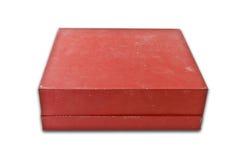 配件箱老红色 免版税库存照片