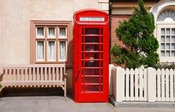 配件箱英国电话 免版税库存图片
