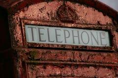 配件箱英国老电话 免版税库存照片