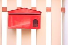 配件箱范围停止的邮件红色 免版税库存照片